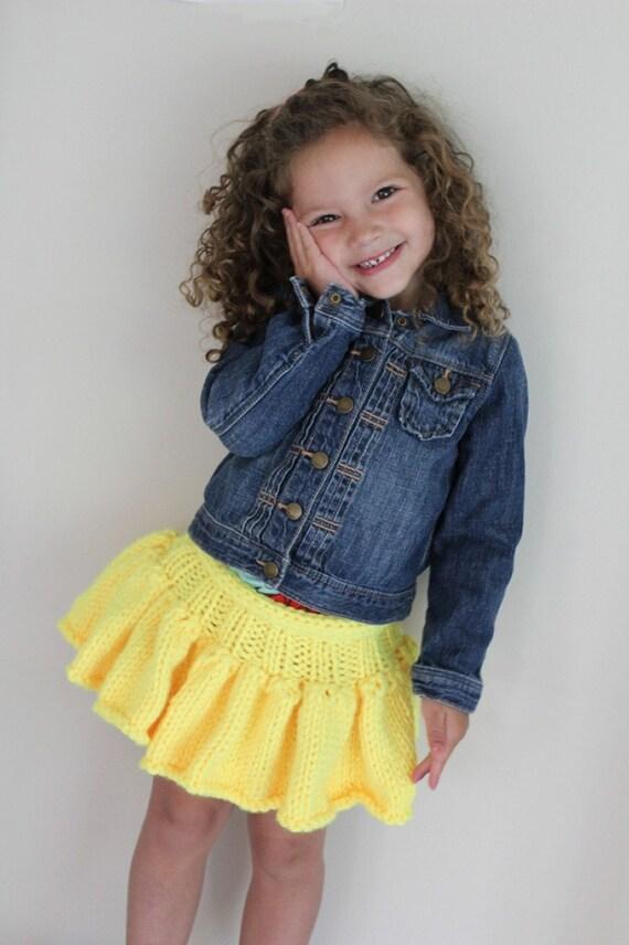 Knitting Pattern For Toddler Skirt : KNITTING PATTERN- Girls Tutu Skirt (baby, toddler, child) Sizes 1-8 year...