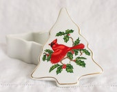 Vintage Lefton China Christmas Tree Trinket Box