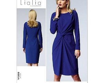 Sz 6/8/10/12/14 - Vogue Dress Pattern V1359 by LIALIA - Misses' Lined Knot-Front One-Piece Dress - Vogue American Designer