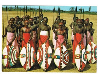 11 Vintage Costume Postcards - East Africa - Traditional Costumes