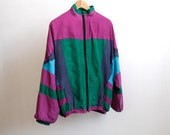silk COLOR BLOCK 90s hip hop UNIQUE bomber jacket