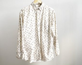 VERSACE style 90s button up shirt