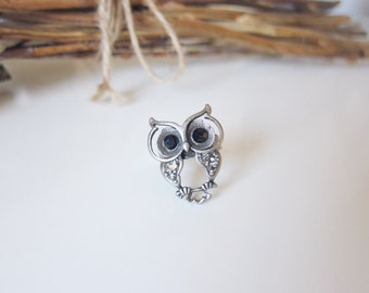 Baby Hooters ring - matte silver