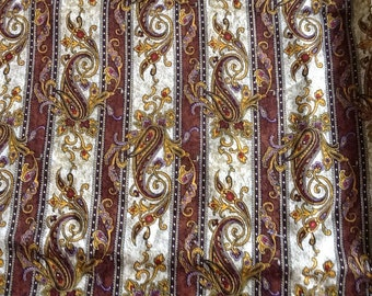 Paisley and Stripe Fabric Cotton Quilting