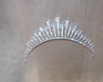 Pave Rhinestone Bridal Tiara Crown