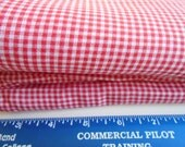 "4 Yards of Printed RED GINGHAM fabric yardage. 44"" wide."