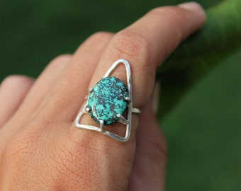 Adventure Seeker Turquoise Triangle Ring