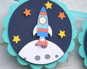 space birthday, space themed, rocket ship banner, outer space banner, space ship banner, space party, decorations, space party decor
