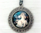 Art Nouveau Necklace Mucha Necklace Art Nouveau Jewelry Alphonse Mucha Jewelry Muse Necklace Glass Necklace Romantic Gifts for Girlfriend