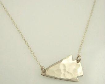 Mini Arrowhead Sideways Necklace