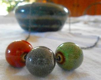 Colorful Ceramic Bead Necklace