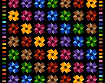 """ORIGAMI - 113"""" x 113"""" Large King or 99"""" x 99"""" King - Quilt-Addicts Pre-cut Patchwork Quilt Kit or Finished Quilt"""