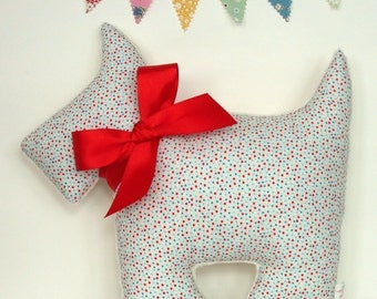 Scottie Dog Pillow ~ New Baby Gift ~ Nursery Decor ~ Baby Boy ~ Scottish Terrier ~ Dog Pillow ~ Retro Decor ~ Stuffed Animal ~ Baby Pillow