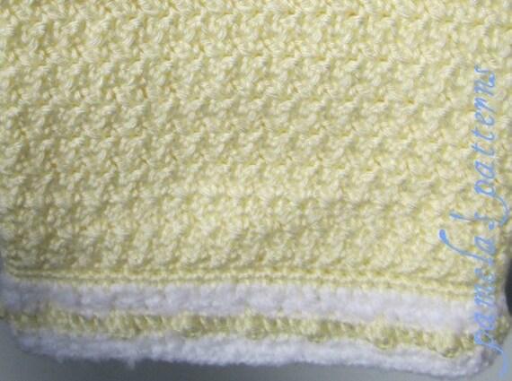 "Crochet Buttery Yellow Easy Lap Afghan PDF Pattern Sunshine Blanket, 36"" x 36"" (91 cm x 91 cm) approx"