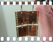 Film Negative Earrings, New York City Landmarks, Tavern on the Green, Empire State Building, Times Square, Recycled Repurposed Jewelry