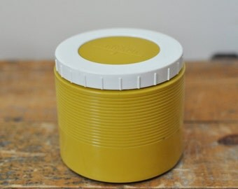 Vintage Soup Thermos Insulated Jar Model 1155 Soup Container Mustard Yellow Back to School