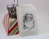 25 Santa Glassine Bags for Candy Bars Popcorn Bars Dessert Favors Food Safe Candy Buffet Bags