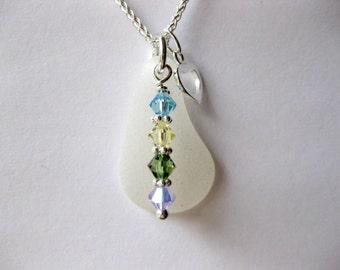 Birthstone Sea Glass pendant - Seaglass jewelry beach glass jewelry seaglass necklace I love jewelry seaglass jewelry