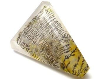 Dendritic Opal Loose Gem Stone Cabochon Branch Tree Moss Merlinite Perfect Ring Stone Translucent Transparent Modified Trillion Unique Rare