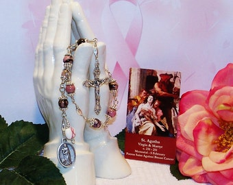 Unbreakable Catholic Chaplet of St. Agatha of Sicily - Patron Saint Against Breast Cancer and Natural Disasters