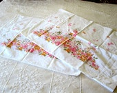 Two Standard Pillowcases with Pink Flowers and Butterflies by Fieldcrest