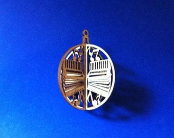 3-D Accordion Wood Ornament