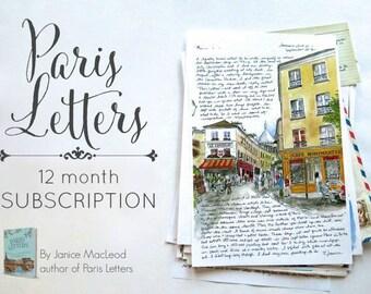 PARIS LETTERS: 12 month subscription