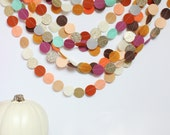 autumn garland (felt and glitter circles)-4 color options