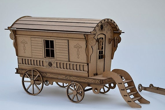 Gypsy Caravan Kit Build Your Own Gypsy Wagon Miniature