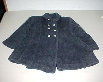 Vintage Little Girl's Wool Dress Coat