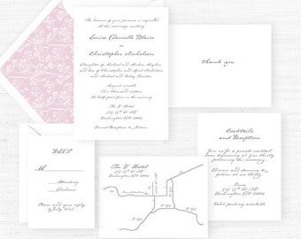 The Louise Collection | Sample Wedding Invitation