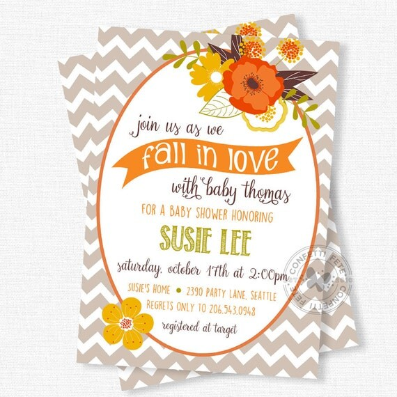 baby shower invitation autumn baby shower fall themed baby shower