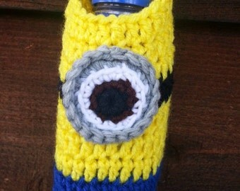 Adult size Minion Inspired water bottle holder. For ages 10 - 99.