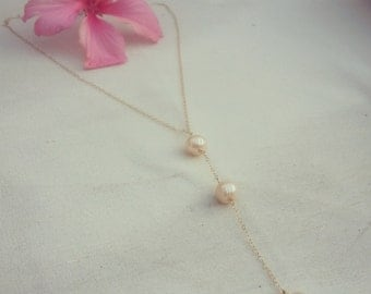 Triple Pearl Drop Necklace