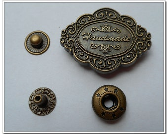 6 sets 2cm handmade antique bronze open ring Snap Fastener Snap Button