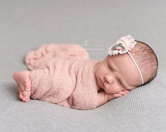Blush Pink Stretch Knit Wrap Newborn Baby Photography Prop