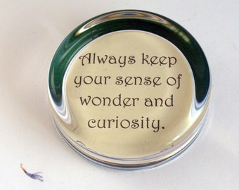 Personalised Glass Paperweight Your Own Words