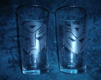 Transformers Autobots or Decepticons Glass