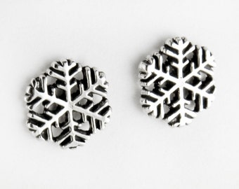 Large Snowflakes Sterling Silver Post Earrings