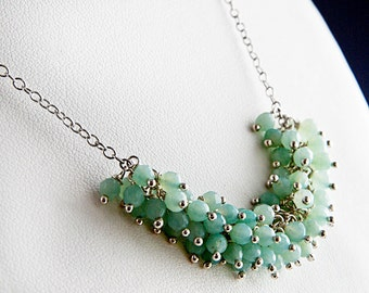 Peruvian Chalcedony Cluster Necklace