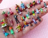 Miniature Figures / Diorama Little People (10pcs by RANDOM / Painted) Terrarium Accessories Bonsai Decoration Fairy Garden Dollhouse MX-FIG