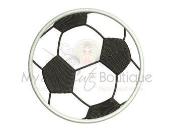 Soccer Ball Applique - 8 Sizes - Instant Download