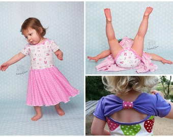 Bow Back Beauty ONESIE PDF pattern and Tutorial - NB-4yrs - by LittleKiwisCloset