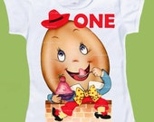 Humpty Dumpty One, First Birthday Tee Custom Birthday Tee Shirt , Girls' clothing, Boys' clothing, tops,Infant T-Shirt  ChiTownBoutique.etsy