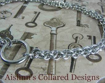BDSM Gorean Slave Collar JPL with O-Ring Clasp