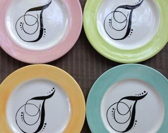 Monogam Appetizer, Dessert, Salad Plates