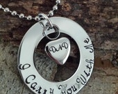 I Carry You With Me / Memorial Cremation Heart Urn Necklace / MOM, DAD or Personalized / All Stainless Steel / Loss Of Family Member