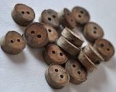 set of 16 birch wooden buttons
