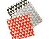 Triangles Cocktail Napkins - Modern Organic Cotton