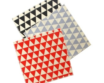 Triangles Cocktail Napkins - Modern Organic Cotton